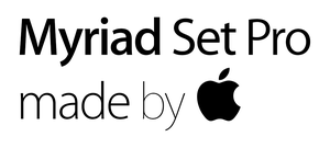 Myriad Set Pro family pack by Apple by Bogun99