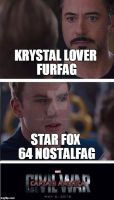 Krystal lovers vs Krystal haters Civil War by FrxPlanner