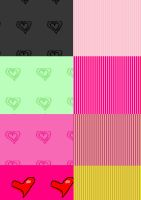 hearts and stripes patterns by MandaShitley