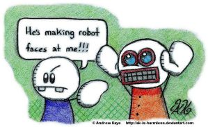 Robot Faces by AK-Is-Harmless