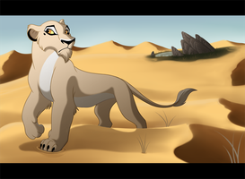 Prowling Through the Desert by kohu-arts