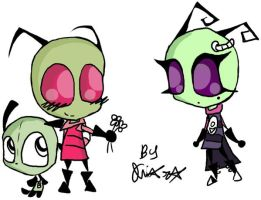 chibi zim,gir and tak by redechidna
