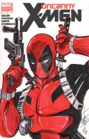 Uncanny XMen Sketch Cover Deadpool by Hodges-Art
