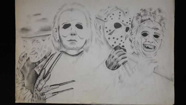 The Great Four (Classic Horror Movie Edition LMAO) by RyanSharqui