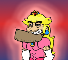 MANLIEST PEACH EVER by Funferno