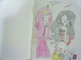 Princess Bubblegum and Marceline by CaramelCreampuff