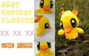 Baby Chocobo Plushie by Lyseebell