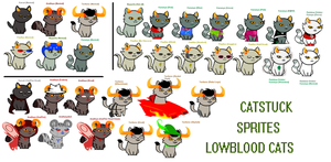 CATSTUCK SPRITES - Lowbloods by PONYPUKE