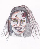 Trish Stratus Zombie by LittleSpook75