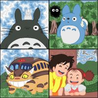 5 friends--my neighbour totoro by A-Grey-Dream