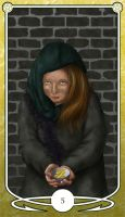Five of Pentacles by Shegon