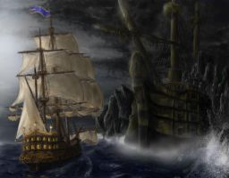 pirate ghost ship by daybreaks0