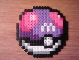 Master Ball Perler by CooltrainerBrooke