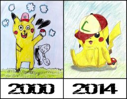 Pika Before-After by TheDragonSensi