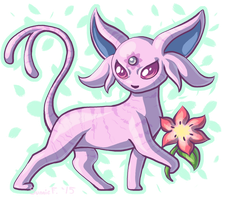 Petal the Espeon by SunnieF