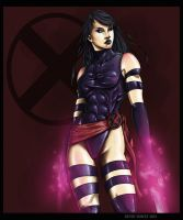 X-Men: Psylocke by drawnblud