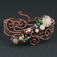 Aventurine, Amazonite and Copper Woven Bracelet by sylva