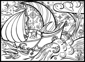 DreamShip Lineart by Random-Squiggle
