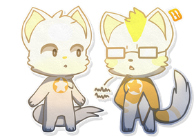 Chibi Core and Beta (Gift) by Apprentice-Bloodpaw
