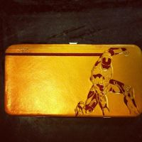 Iron Man Gold and Red clutch purse by MerrillsLeather