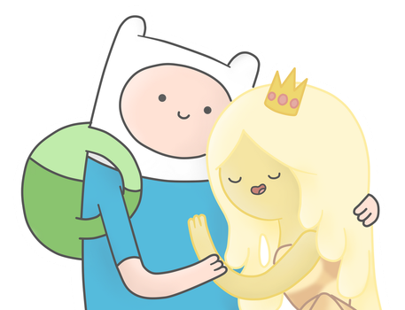 Request: Finn and Pizza Princess by AndiScissorhands