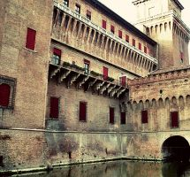 Castle with a moat by Iraanamaria