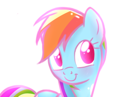 Rainbow Cute by HeavyMetalBronyYeah