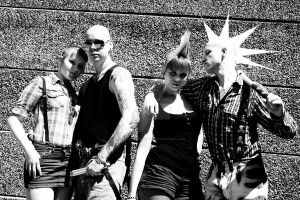 Skinhead Group 1 by ElizabethChiyoko