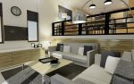 Modern Asian Living Room by 13-year-old