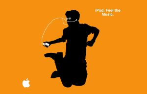 iPod Ad Wallpaper: Orange by macguy11508
