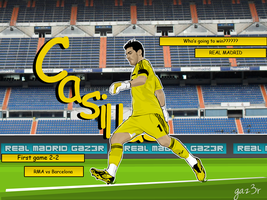Casillas Comic vector wall by gaz3r