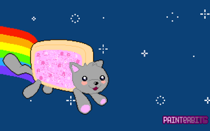 NyanCat Wallpaper by PainterBits
