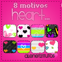 8 motivos Heart by alenet21tutos