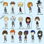 ALL OF MY OCS by pantsreminder