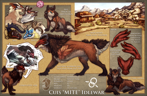 [Shinlai] Mite Idlewar ref sheet by Lenalis