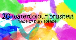 20 WATERCOLOUR BRUSHES by BurritoFace