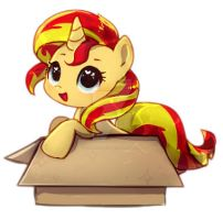 Sunset Shimmer in a Box by FallinAsleep