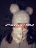 White Knitted Scarf And Hat by annakoutsidou