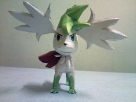 Shaymin Sky Forme Papercraft 1 by riolushinx