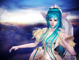 angel on the sky by doramay15967