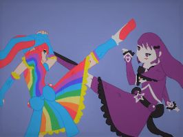 Cure Rainbow v.s. Cure Violet: Bad Blood by MiraculousLover21