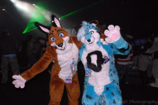 Two Fursuiters by ohsnapphotos