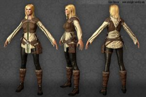 Rogue Character Final Turnaround by gilesruscoe
