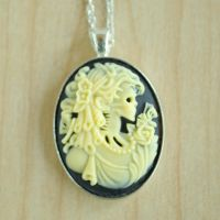 Zombie Girl Necklace by MonsterBrandCrafts