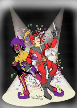 Clopin and Cicero Party Time by Winged-Gardian
