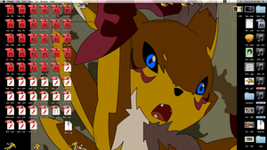 Renamon Shimeji for mac download by RenamonsRevenge