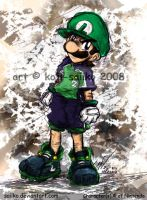 Mario: Striker Captain Luigi by saiiko