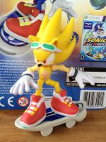 custom Sonic Free Riders Super Sonic figure by HyperShadow92