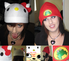 Rappa Parappa and Hello Kitty by nishi