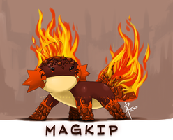 Magkip: Fire/rock type Mudkip by zeusplara